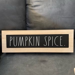 Rae Dunn sign Pumpkin spice